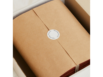 French linen fitted sheet in White