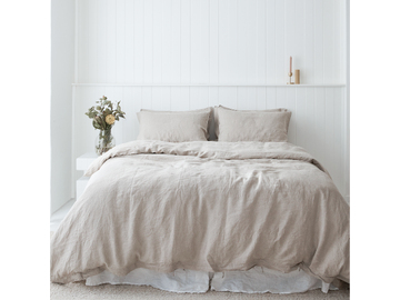100% pure French linen duvet cover in Natural