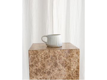 The Camp Mug in Fluted Stone